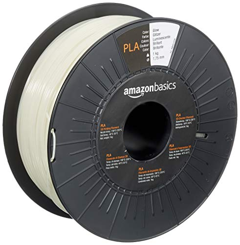Amazon Basics 3D-Drucker-Filament aus PLA-Kunststoff, 1,75 mm, leuchtend, 1-kg-Spule