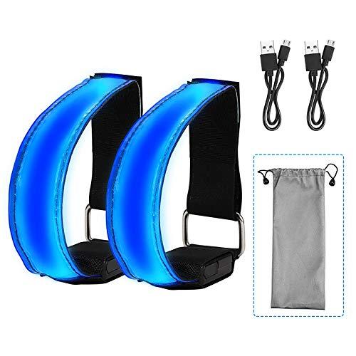 Topwor Pulsera de luces LED para corredores bandas reflectantes de alta visibilidad recargable accesorio para correr para hombres y mujeres equipo de