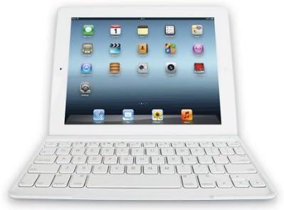 Logitech Ultrathin Keyboard Cover (Versión extranjera) Teclado para móvil AZERTY Francés Blanco Bluetooth - Teclados para móviles (AZERTY, Francés, ...
