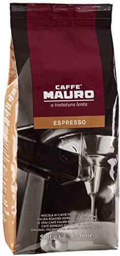 Caffè Mauro Espresso - Caffè in Grani per Macchine Espresso, 4 Pack da 500g (Totale 2kg)