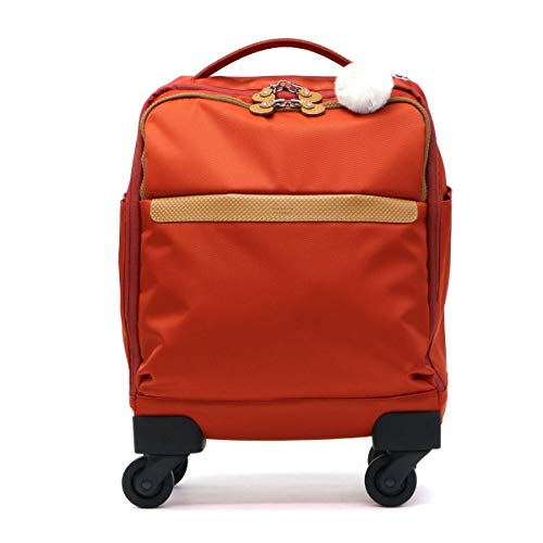[カナナ プロジェクト] スーツケース等 カナナマイトロリー サイレントキャスター搭載 ソフトキャリー 100席未満機内持込み対応 南京錠付き 14L 55271 機内持ち込み可 33 cm 1.8kg ブラッドオレンジ