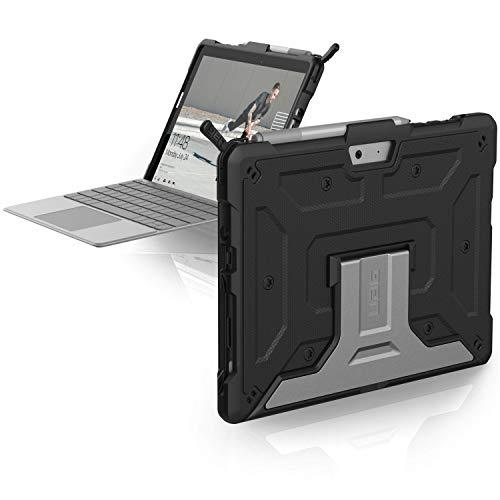 Urban Armor Gear Metropolis Schutzhülle für Microsoft Surface Go / Go 2 Hülle [Microsoft Zertifiziert, TypeCover kompatibel, Surface Pen Halter, Stoßfest, Standfunktion] - schwarz