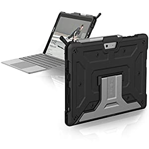 URBAN ARMOR GEAR UAG Microsoft Surface Go 2 / Surface Go Feather-Light Rugged [Black] Aluminum Stand Military Drop Tested Case