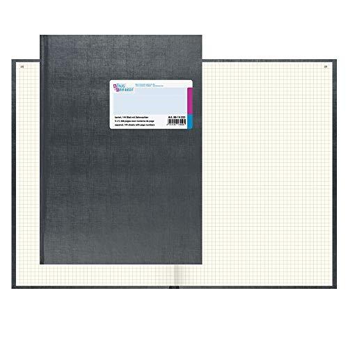 König & Ebhardt 8614223 Geschäftsbuch / Kladde (A4, kariert 80g/m², 144 Blatt Fadenheftung, mit Seitenzahl)
