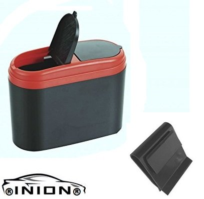 INION 1x Auto Abfalleimer Mülleimer Eimer Aufbewahrungsbox Container Organizer Tischmülleimer Müllbehälter Abfallbehälter für PKW LKW Wohnmobil Boot Garagen Hängend & Tragbar. (1x Müllbehälter)