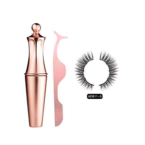 Funihut Magnetic Eyeliner - Kit de pestañas magnéticas, Resistente al Agua, de Larga duración, fácil de aplicar, Kit para los Ojos, AD811-5