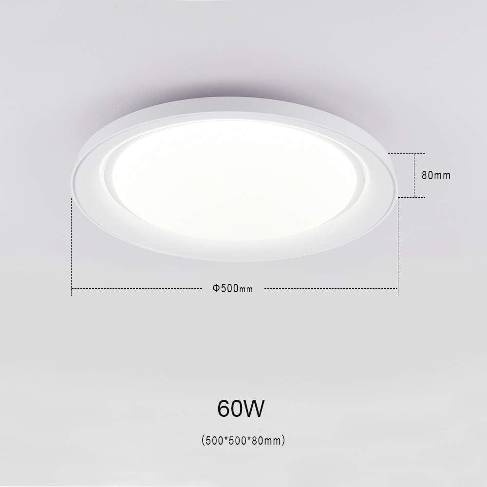 54W L/ámpara de techo LED Regulable Plafon Techo Led Redondo Iluminaci/ón interior para Dormitorio Comedor Cocina Balc/ón Marco de Concha Blanco Clase de eficiencia energ/ética A+