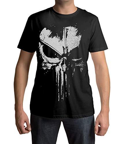 The Punisher T-Shirt Ultra Distressed Design Schwarz/verblasst Weiß #2 (5XL)
