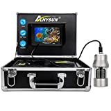 Anysun Underwater Fishing Camera with a 1/3 Inch, 7' TFT LCD, Sony CCD 800TVL HD - Underwater Video Camera Fish Finder with 360 Degree View with 20M Cable