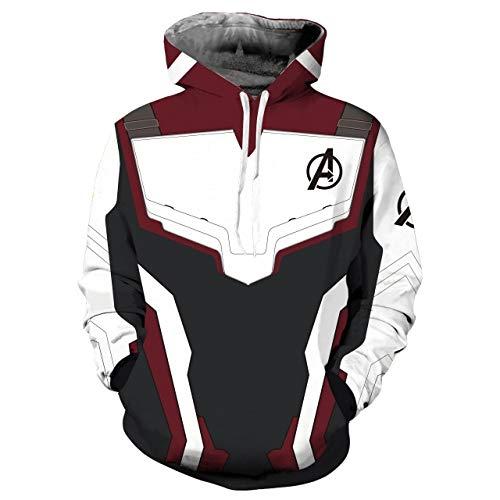 HNOSD Männer Frauen Avengers Hoodies 3D Pullover Sweatshirt Quantum Realm Superheld Reißverschluss Jacke Kostüme Kein Reißverschluss Hoodie L