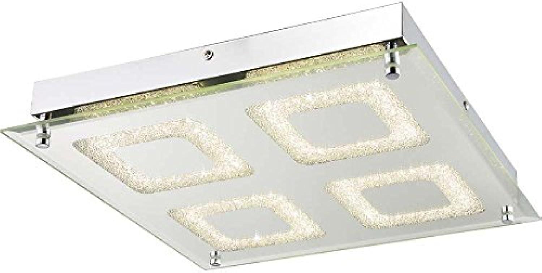 Prchtige 24W LED Decken Leuchte Lampe Esszimmer Chrom Flur Globo CYRIS 49229-24