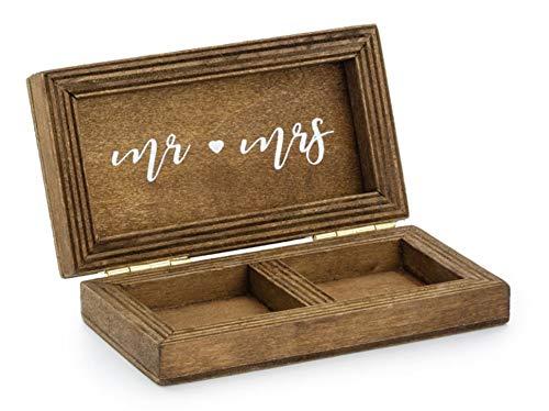 Ringkissen Hochzeit Vintage aus Holz/Ringhalter Ringschatulle Ringkistchen für Eheringe