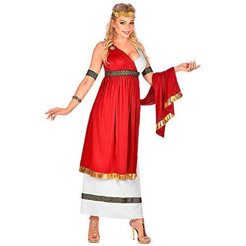 WIDMANN 09103 Disfraz de emperatriz romana, para mujer, rojo/blanco, L , color/modelo surtido