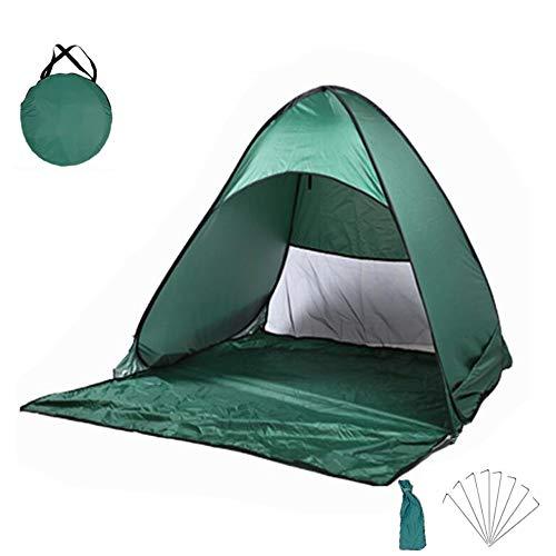 JU SHUN Outdoor Automatic Pop Up Beach Tent, Portable Lightweight Anti-UV Tent, Easy Put Up Beach Sun Shelters Tent for Family Picnic, Beach, Garden,Fishing. (dark green)