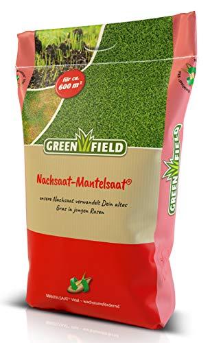 Greenfield Nachsaat Mantelsaat GF-320 Sportrasen Vital Rasen Saat 10 kg für ca. 600m²