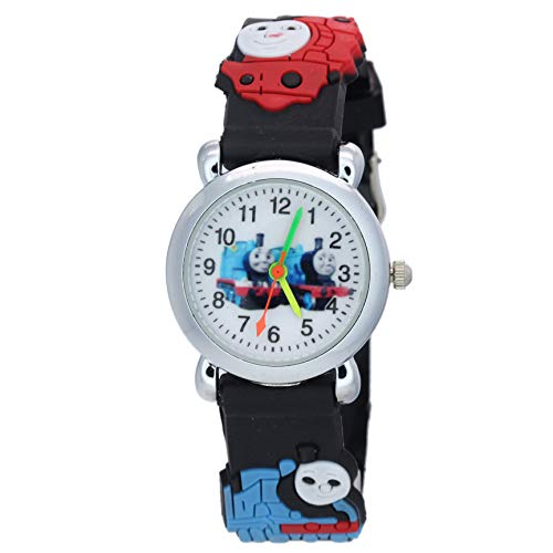 TimerMall Fashion Thomas and Friends Pattern Clear Numbers Hour Markers Childrens Quartz Watches