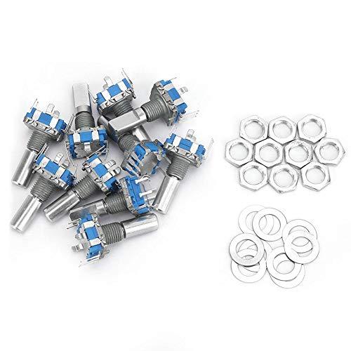 Encoder rotativo, potenziometro digitale con interruttore di codifica codificatore rotante EC11 da 10 pezzi ampiamente utilizzato nell'elettronica automobilistica