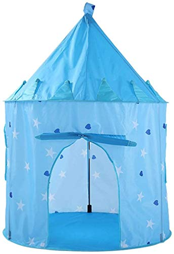 Children's Toys Tent Camping Tent Sky, with Indoor or Outdoor Bags, Indoor and Outdoor Games with Play House Toy,Blue