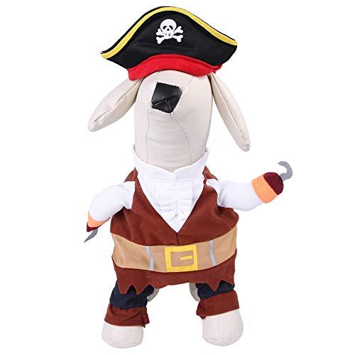YOUCAI Disfraz de Vaquero para Perros Gatos Disfraz de Policía para Mascotas Disfraz de Pirata Divertido Disfraces de Cosplay de Halloween y Navidad,Estilo 4,XL