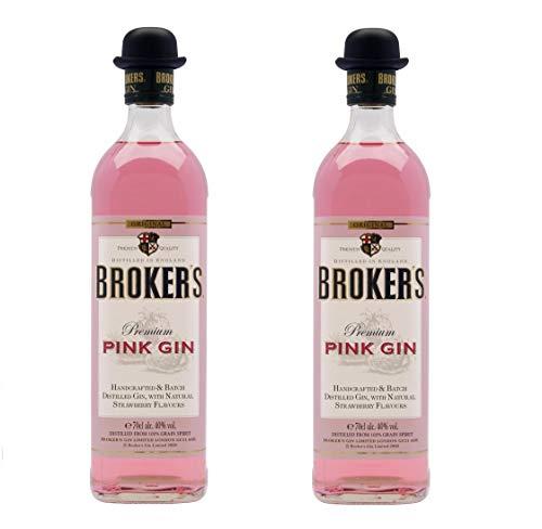 Broker's Gin aus Großbritannien 2er Sparpack Broker's Pink Gin 40% vol (2 x 0,7 Liter)