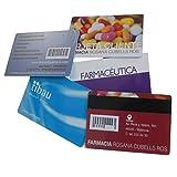 Tarjetas de Plástico Impresas a Color. Tarjetas de Identificación Personalizadas 2 Caras. 10 Tarjetas.