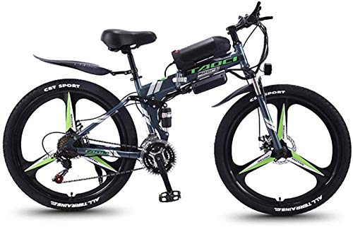 Fangfang Electric Bikes, Electric Bikes for Adults 350W Folding Mountain Ebike Aluminum Commuting Electric Bicycle with 21 Speed Gear & 3 Working Model Electric Bike E-Bike,E-Bike (Color : Gray)