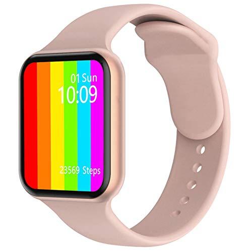 Mtong Reloj inteligente MODOSON iwo W16 Series 6 1.75 pulgadas HD pantalla completa termómetro de ritmo cardíaco Smartwatch PK W26 para Apple iPhone Android (color dorado rosa