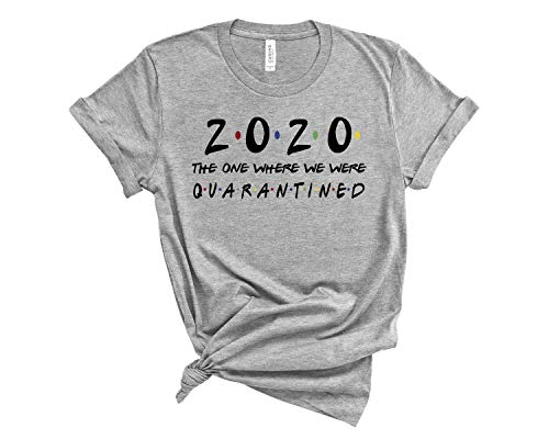 nobrand Class Shirt 2020 Graduation Seniors Friend Inspired Social Distance Expert Funny t Shirt Social Distancing Humor T-Shirt Unisex SD12 L Heather Grey