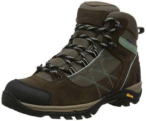 Aigle Damen Mooven Mid Wgtx Trekking- und Wanderhalbschuhe Braun (Dark Brown/vert Agave) 41 EU