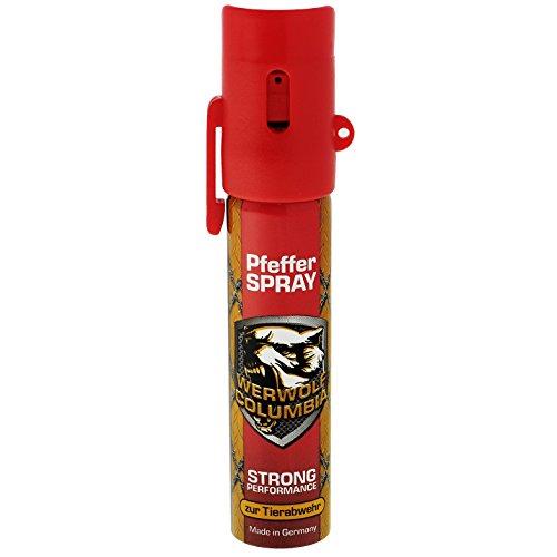 Columbia Werwolf Pfefferspray Verteidigungsspray Pfeffer Spray Breitstrahl 20ml (20ml) (20ML)