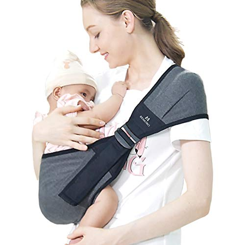 BEMOBO Baby Sling Stretchy and Light Weight Baby Wrap Carrier Newborn to Toddler