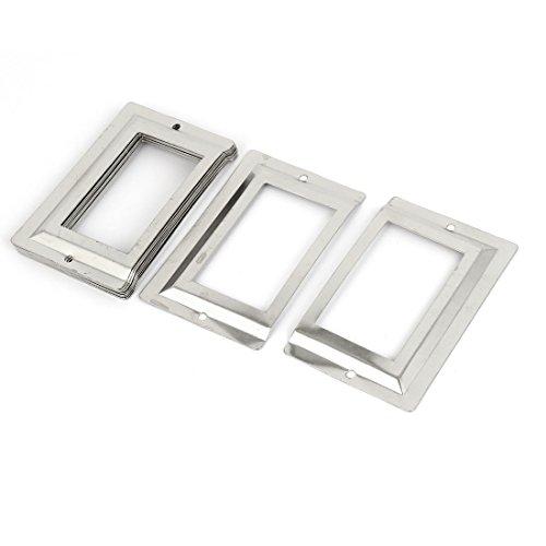 Soporte para etiquetas de metal color plata para archiveros de oficinas de correo y bibliotecas sourcingmap®, 10 unidades 🔥