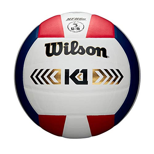Wilson Unisex-Adult K1 Gold VB RDWHNA Volleyball, RED/White/Navy, Official