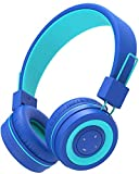 Kids Bluetooth Headphones, iClever Wireless Headphones with MIC, 85dB Volume Limited, Adjustable Headband