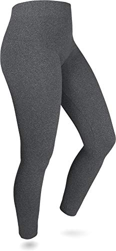 normani 2 x Sehr warme Damen Thermo Leggings/innen Fleece mit Elasthan Farbe Anthrazit Größe 40-42