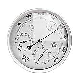 FLJKCT Barómetro 3 en 1 para colgar en la pared, termómetro higrómetro temperatura estación meteorológica barómetro