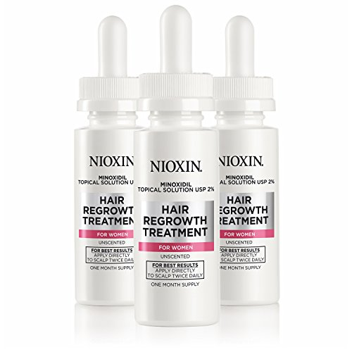 Nioxin Minoxidil Hair Regrowth Treatment for Women, 3 Count