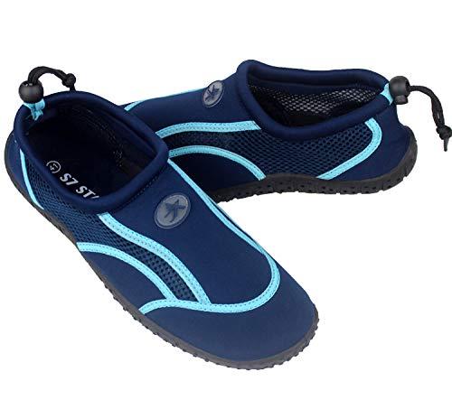 Zapatos de Agua, Zapatillas para Buceo Snorkel Surf Piscina Playa Vela Mar Río Aqua Cycling Deportes Acuáticos, Calzado de Natación Escarpines para Hombre Mujer Unisex (Turquesa, Numeric_44)