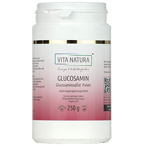 Vita Natura Reines Glucosamin Pulver Gelenk Aktiv, vegan 250g