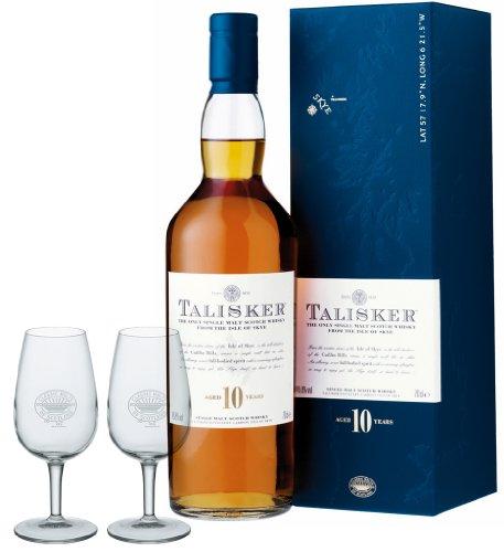 Talisker 10 Jahre Geschenkset mit 2 Classic Malt Whiskygläsern