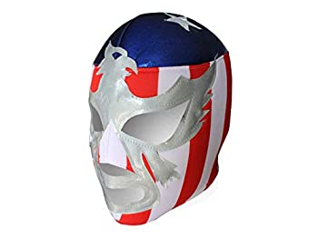 Patriot America Lucha Libre Luchador Mask Adult Size - Mexican Wrestling Mask Costume