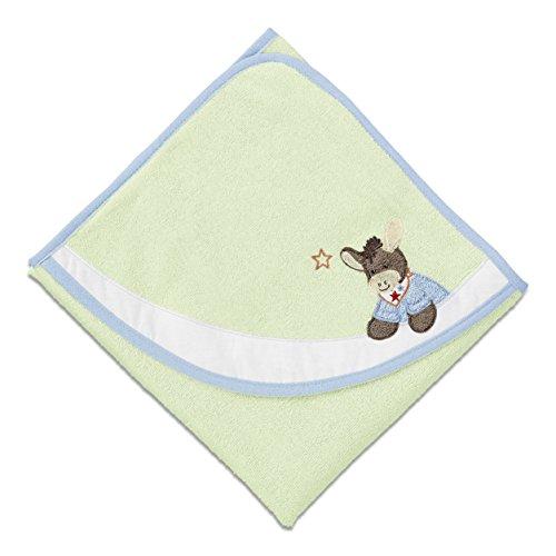 Sterntaler Serviette de bain à capuche Emmi, Âge: à partir de 0 Mois, 80 x 80 cm, Vert