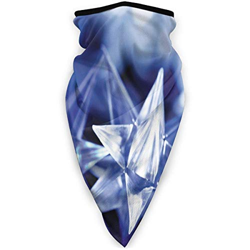Halswarmer ademend gezichtsmasker kristal winddicht halswarmer ster Kerstmis voor stofbescherming buiten