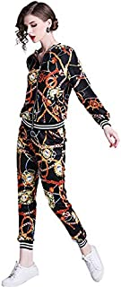 YGYG-X-AU Women's Floral Sports Set, Floral Clothes + Harem Pants, Clothing Set