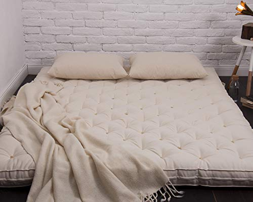 Sale!! Home of Wool 3 Wool Shikibuton/Futon Mattress, Tatami Mat/Oeko-Tex Certified Filling and Fab...