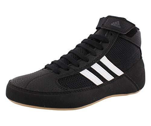 adidas Men's HVC Wrestling Shoe, Black/White/Iron...