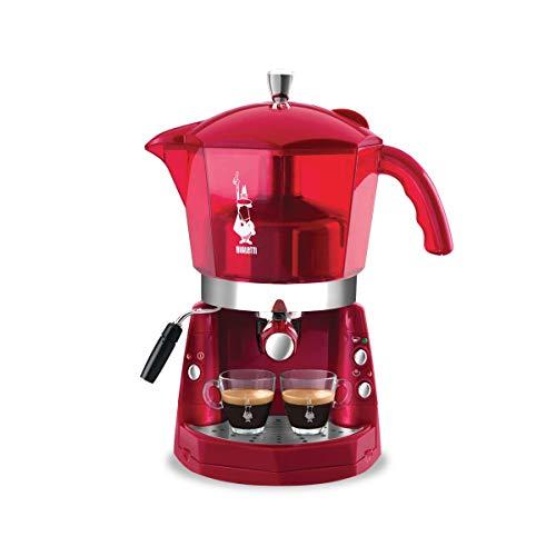 MOKONA BIALETTI CF40 Macchina Caffe' Espresso TRIVALENTE: Capsule Alluminio BIALETTI, CIALDE ESE e Caffe' MACINATO. EROGATORE Cappuccino Colore Rossa Nuova
