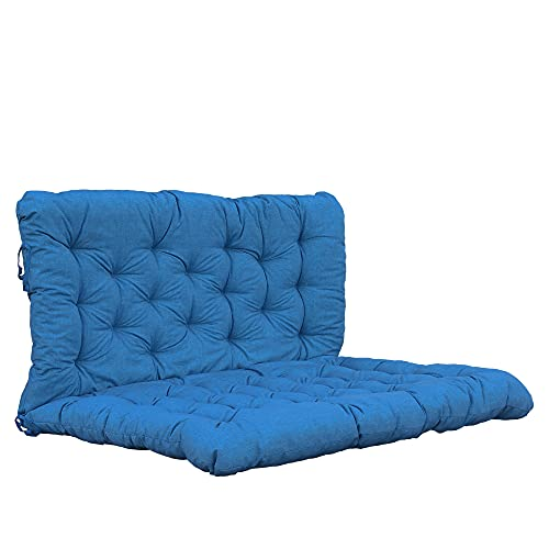Chicreat Cojín para palé con asiento y respaldo, 120 × 80 cm (asiento) / 120 × 60 cm (respaldo), turquesa