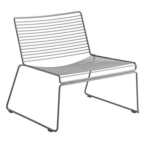 HEE Lounge Stuhl, asphaltgrau pulverbeschichtet BxHxT 72x67x67cm für Innen- und Außenbereich geeignet