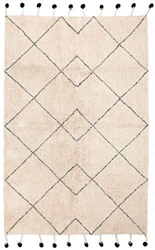 Nattiot Teppich Tanvi Natur/schwarz 110 x 170 cm